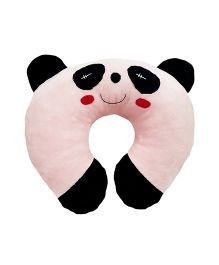 Ultra Soft Panda Neck Cushion Pillow - Pink And Black