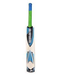 JD Sports Wooden Cricket Bat - Green Blue