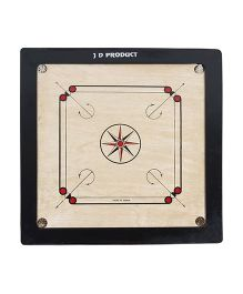 JD Sports Wooden Carom Board - Black Beige