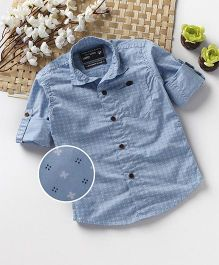 Jash Kids Full Sleeves Printed Shirt - Sky Blue
