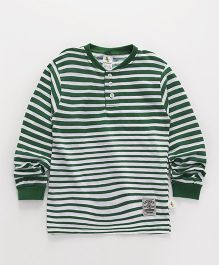 Cucumber Full Sleeves Stripe T-Shirt - White Green