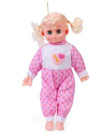 Smiles Creation Musical Doll Dots Print Pink - Height 37 cm