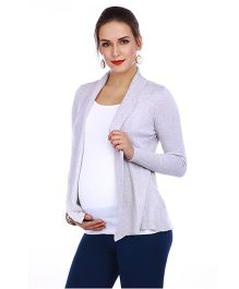 The Mommy Collective Full Sleeves Maternity Shrug - Grey