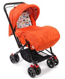 1st Step Pram Cum Stroller - Orange