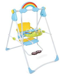 1st Step Musical Swing With Play Tray - Blue & Yellow