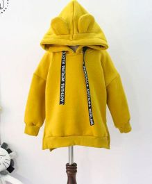 Pre Order - Wonderland Solid Design Thick Hoodie - Yellow