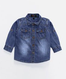Robo Fry Full Sleeves Denim Shirt - Blue