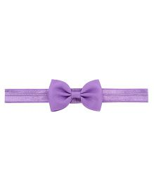 Angel Closet Headband With Small Bow - Purple