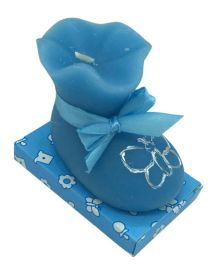 Funcart Baby Bootie Candle - Blue