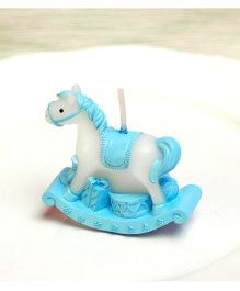 Funcart Rocking Horse Shaped Candle - Light Blue