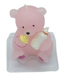 Funcart Teddy Bear Shaped Candle - Pink