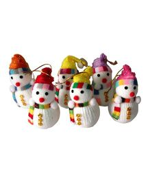 Funcart Snowman Christmas Hanging Decor Multicolor - Pack of 6