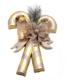 Funcart Candy Cane Christmas Decoration - Golden