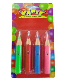 Funcart Pencil Shaped Candle - Multi Color