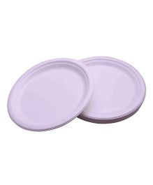 Funcart Eco Friendly Paper Plates Pack of 25 - White