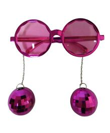 Funcart Party Glasses With Disco Ball - Pink