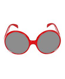 Funcart Retro Round Party Glasses - Red