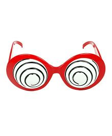Funcart Swirly Hypo Party Glasses - Red
