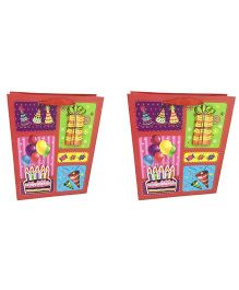 Funcart 3D Birthday Cake Gift Bag Pack of 2 - Multi Colour