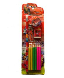 Funcart Disney Pixar Cars Themed Stationery Set of 10 - Red