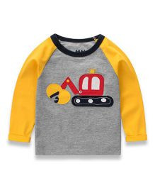 Pre Order - Awabox Vehicle Print Sweat Tee - Yellow