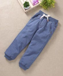 Babyhug Full Length Jogger Jeans With Four Pockets - Light Blue
