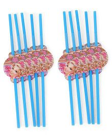 Barbie Party Straw Pack Of 10 - Blue