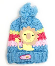 Kidofash Lion Applique Cap - Light Blue