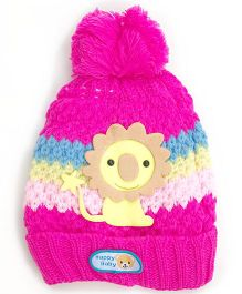 Kidofash Lion Applique Cap - Magenta