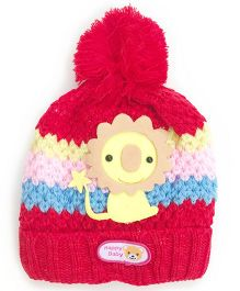 Kidofash Lion Applique Cap - Red