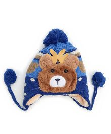 Kidofash Teddy Applique Cap - Navy