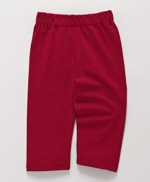 Little Kangaroos Full Length Plain Leggings - Dark Red