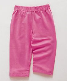 Little Kangaroos Full Length Plain Leggings - Pink