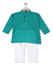 Kid1 Festive Printed Kurta & Pyjama Set - Green