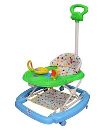 Sunbaby Racer Musical Walker With Push Handle - Blue & Green
