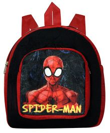 Marvel Spider Man Plush Bag Black - Height 11 inches