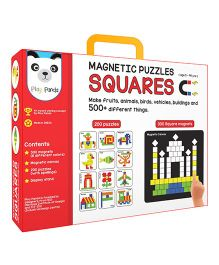 Play Panda Magnetic Puzzle Square Multicolor - 200 Puzzles