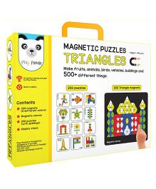 Play Panda Magnetic Puzzle Triangle Multicolor - 200 Puzzles