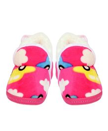 Miss Diva Super Soft Car Printed Shoes - Hot Pink