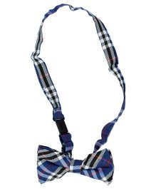 Miss Diva Smarty Checks Bow Tie - Blue