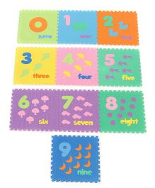 Unimats Numerical Jigsaw Style Play Mat Multi Colour - 10 Pieces