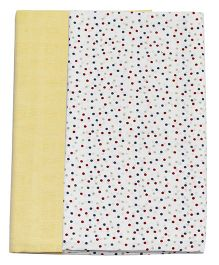Kadambaby Muslin Swaddle Wrapper Dots Print Set of 2 - Yellow White