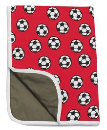 Kadambaby Diaper Mat Football Print - Red