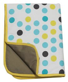 Kadambaby Diaper Mat Polka Dots Print - Multi Color