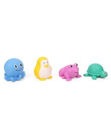 Giggles Aqua Animal Squeakers Bath Toy Pack Of 4 (Color May Vary)