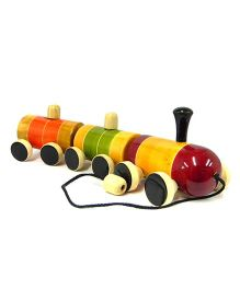 Playthings Pull Along Zoom Zoom Train - Multicolour