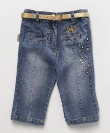 Little Kangaroos Jeans With Belt - Blue