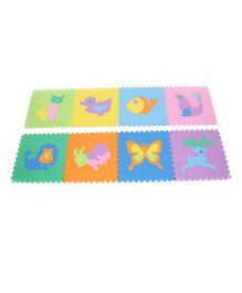 Unimats Animal Jigsaw Style Play Mat Multi Colour - 8 Pieces