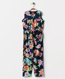 Pixi All Over Print Jumpsuit - Blue