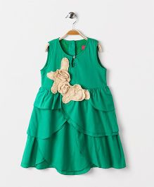 Pixi  Panelled Swing Dress - Green